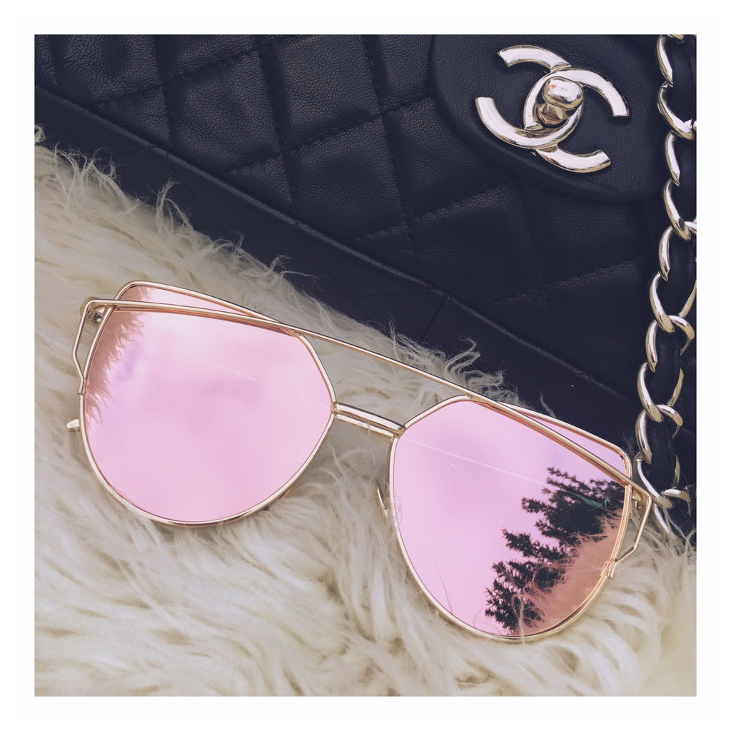 Paris Fascinating Rose Gold Sunglasses