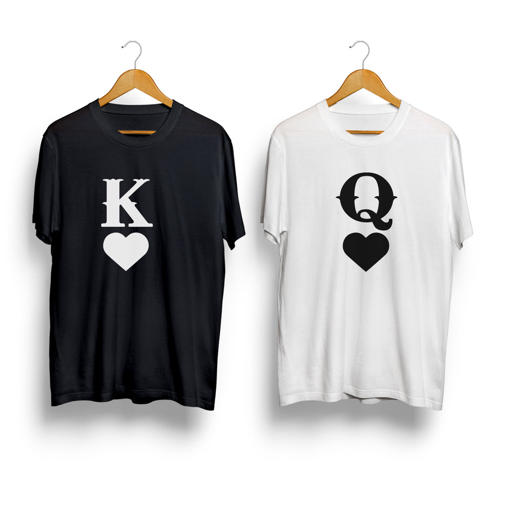 K(King) & Q(Queen) - Couple T Shirt