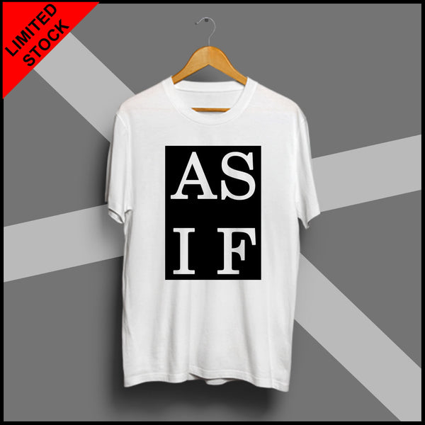 AS IF - Half Sleeve Cotton T-Shirt
