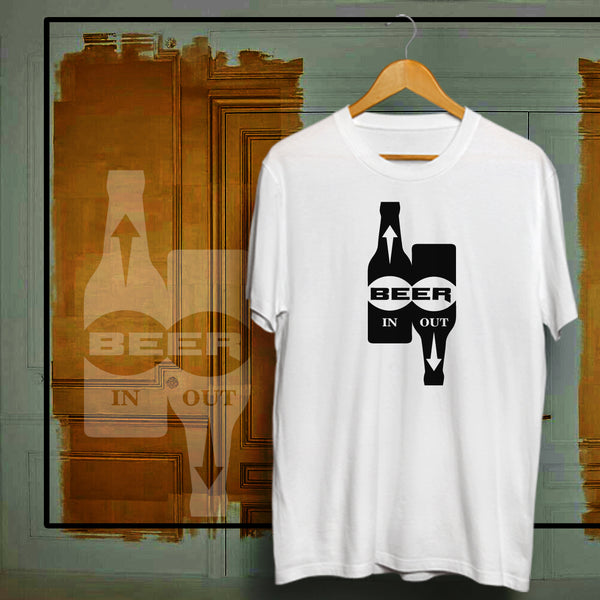 Beer In Out - Half Sleeve Cotton T-Shirt