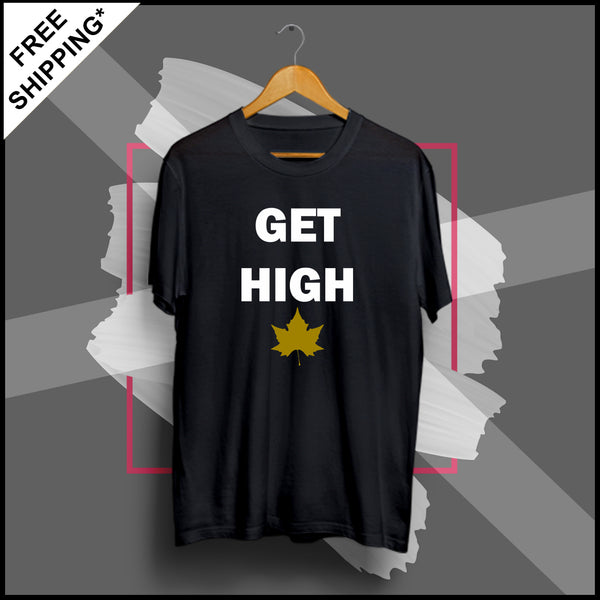 Get High - Half Sleeve Cotton T-Shirt