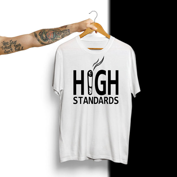 High Standards - Half Sleeve Cotton T-Shirt