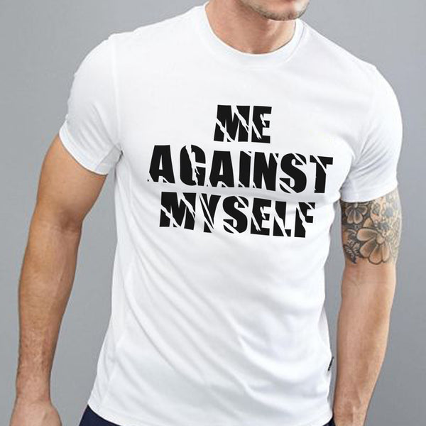 Me Against Myself - Half Sleeve Cotton T-Shirt