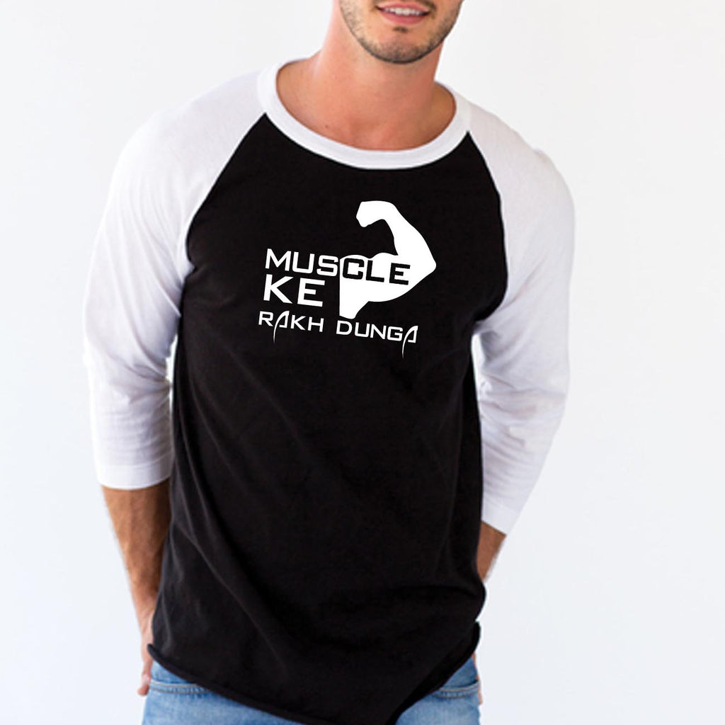 Muscle Ke Rakh Dunga  - Full Sleeve Cotton T-Shirt