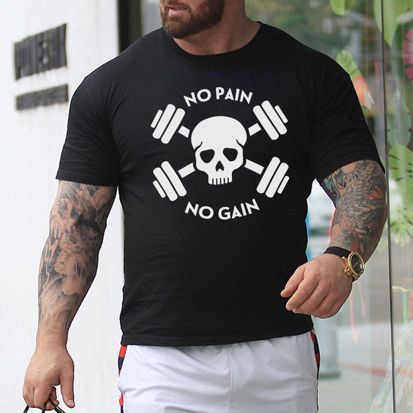 No Pain No Gain - Half Sleeve Cotton T-Shirt