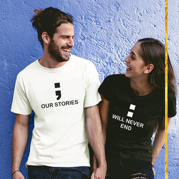 Our Story Will Never End - Couple T Shirt