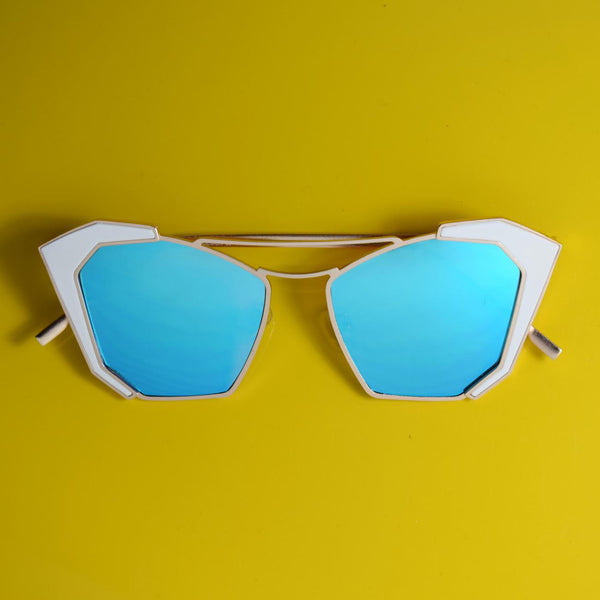 Provique Metal Top Bar Blue Sunglasses