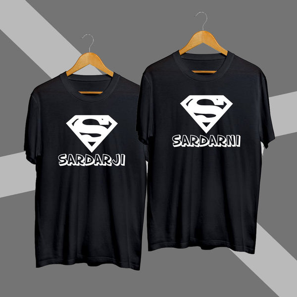 Sardarji And Sardarni- Couple t Shirt