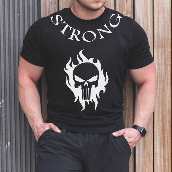 Strong - Half Sleeve Cotton T-Shirt