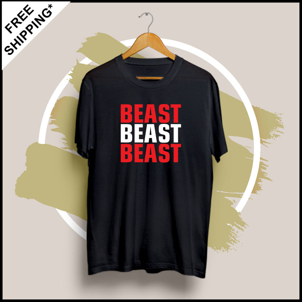 Beast Beast Beast - Half Sleeve Cotton T-Shirt