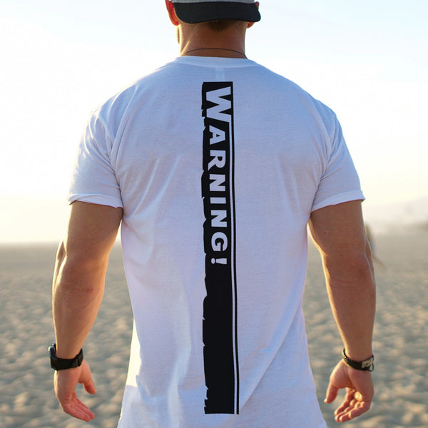Warning - Half Sleeve Cotton T-Shirt