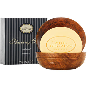 Art of Shaving Unscented Shaving Soap in Wooden Bowl