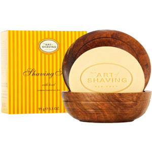 Art of Shaving Lemon Shaving Soap in Wooden Bowl