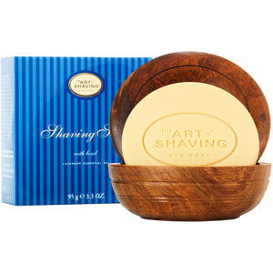 Art of Shaving Lavender Shaving Soap in Wooden Bowl
