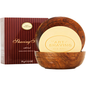 Art of Shaving Sandalwood Shaving Soap in Wooden Bowl