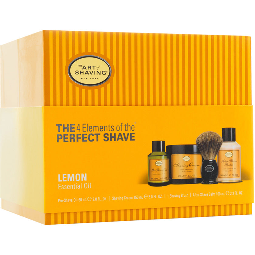 Art of Shaving Lemon Full Size Kit with Pure Shaving Brush