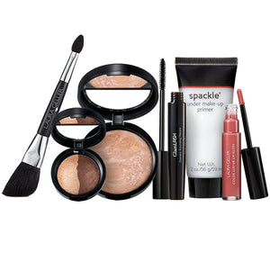 Laura Geller Beautifully Nude Set Spackle Under Makeup Primer Balance N Brighten Baked Color Intense Eyeshadow Glamlash Mascara Color Luster Lip Gloss Double Ended Blush Eye Applicator
