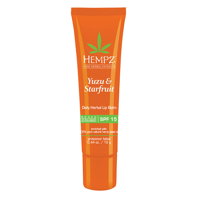Hempz Yuzu & Starfruit Daily Herbal Lip Balm SPF 15