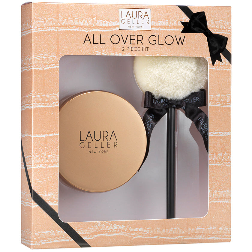 Laura Geller All Over Glow Kit Baked Body Frosting Face Body Glow Gilded Glow Applicator