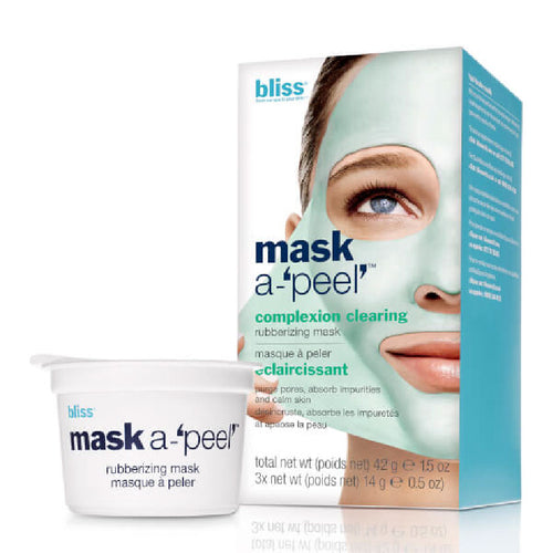 Bliss Mask A Peel 3 Pack Complexion Clearing Rubberizing Mask