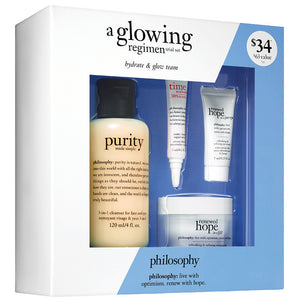 Philosophy A Glowing Regimen 4 Piece Trial Kit