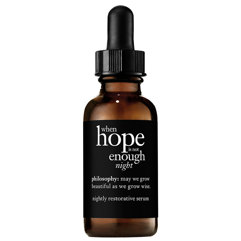 Philosophy When Hope is Not Enough Nightly Restorative Serum