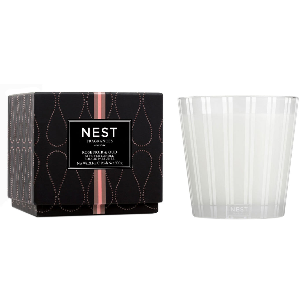 Nest Fragrances Rose Noir Oud 3 Wick Candle
