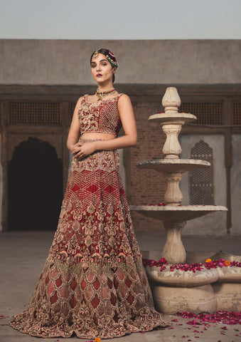 Red Lehenga for pakistani bridal