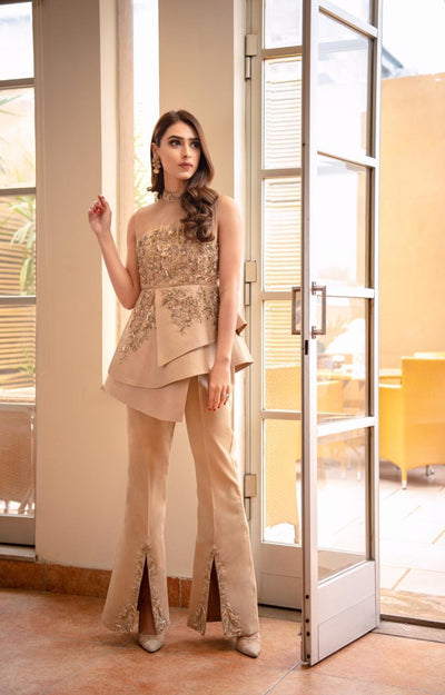 Gold outfit [bridal and formal wedding] - Ayesha And Usman