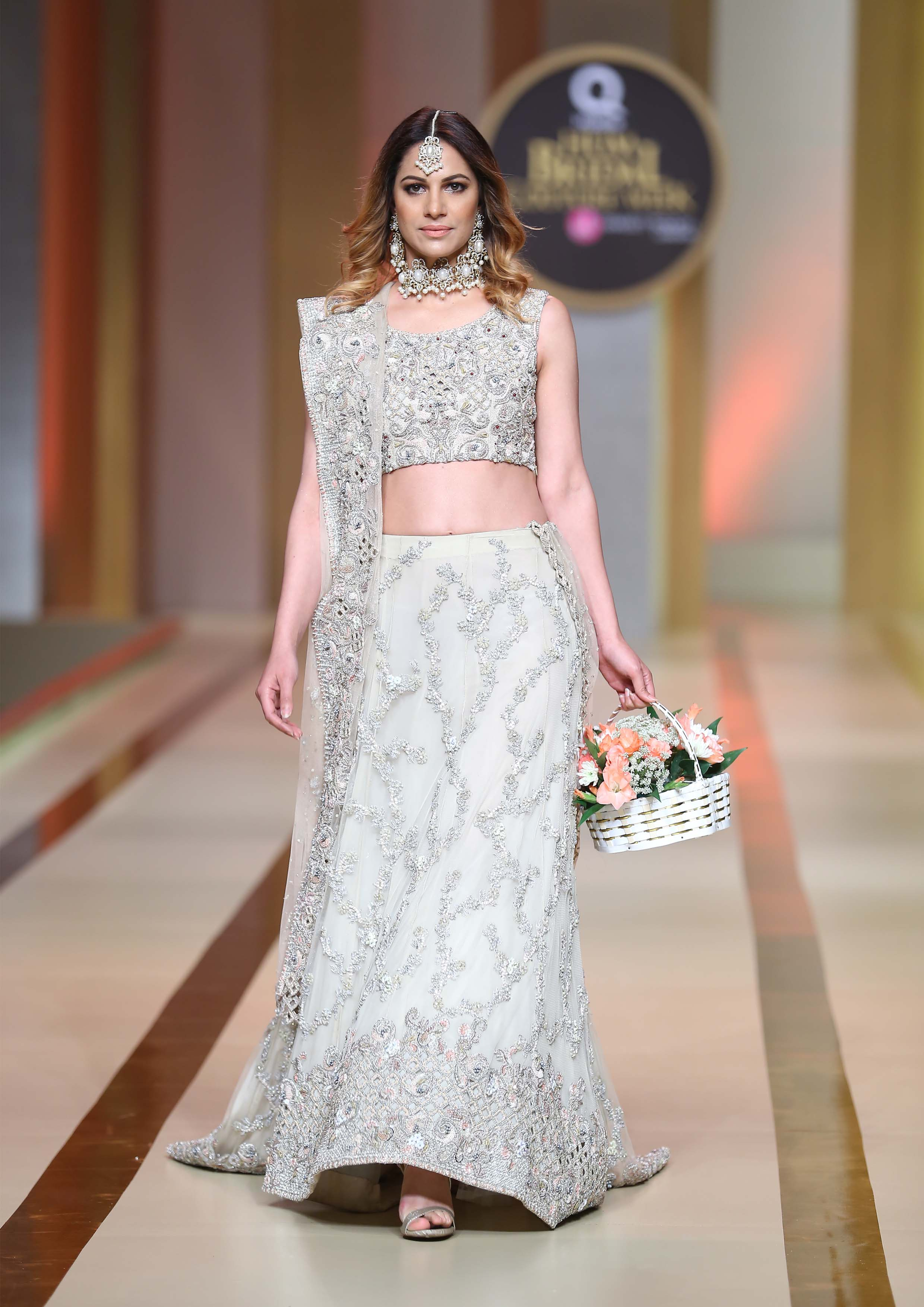 gery bridal dress in lahore by Ayesha And Usman