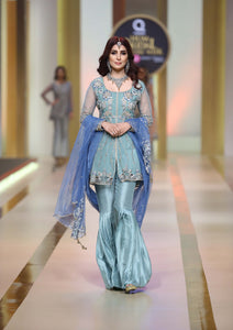 Blue outfit-[bridal and formal wedding] - Ayesha And Usman