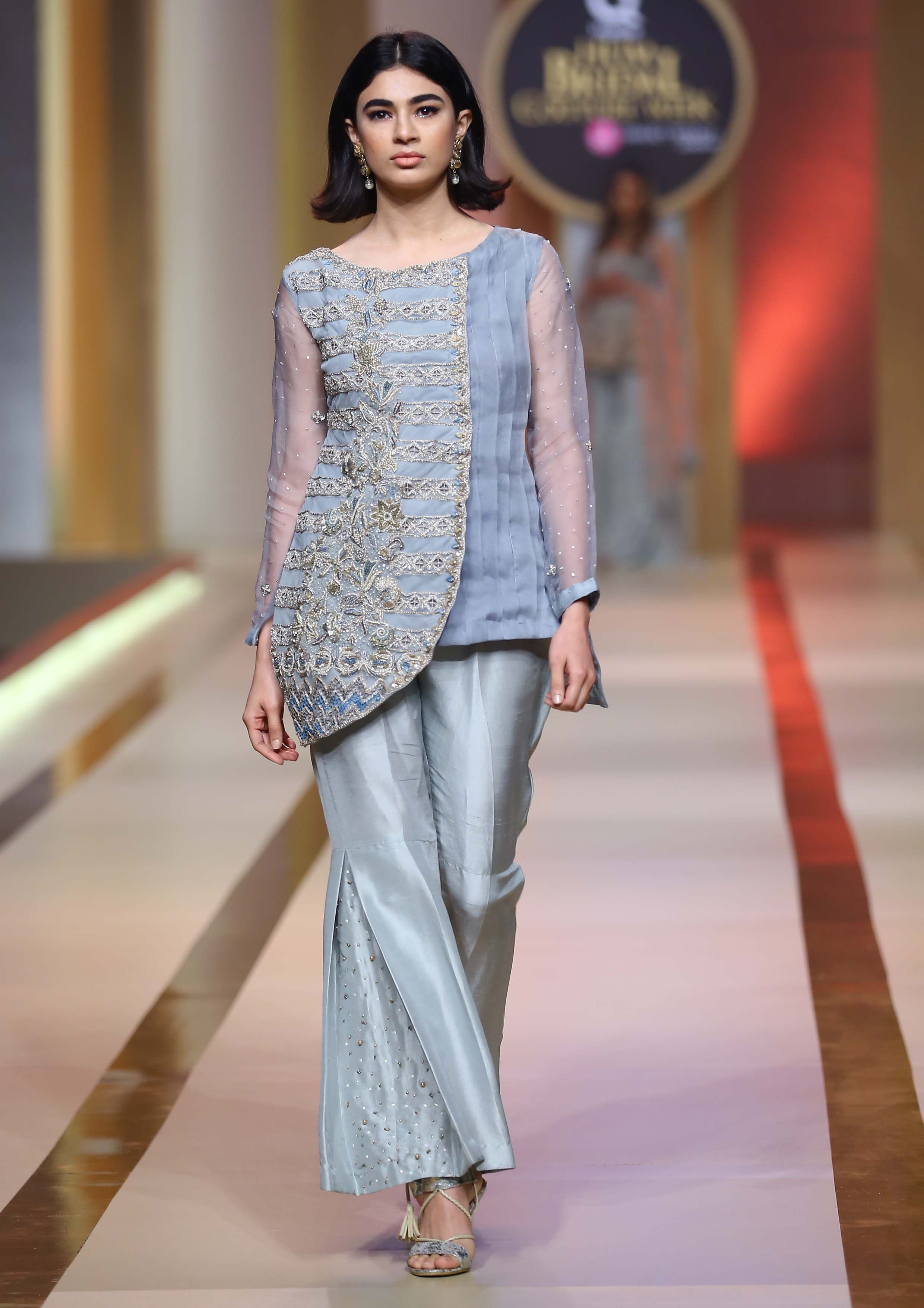 blue dress-[bridal and formal wedding] - Ayesha And Usman