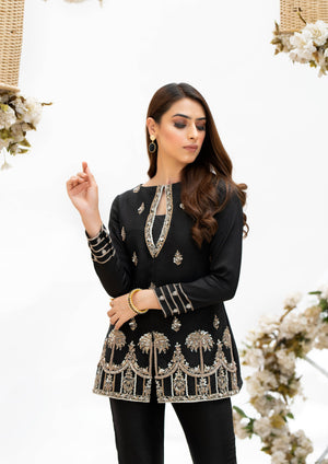 Black outfit, bridal and formal wear pakistan