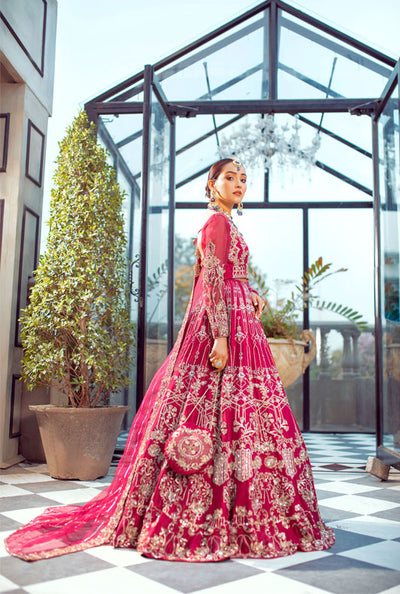 red and pink bridal-ayesha and usman