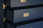 Large Carlyle Campaign Dresser - Navy | AVE HOME