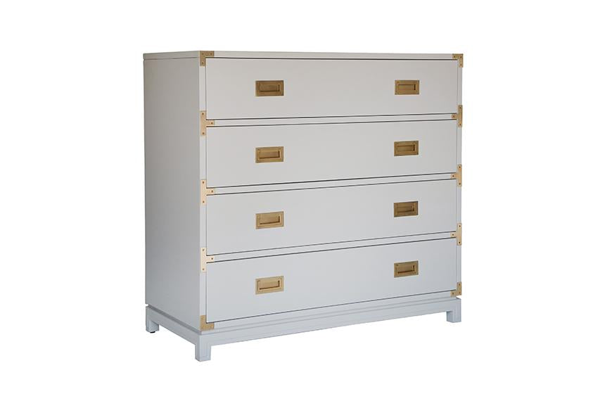 Large Carlyle Campaign Dresser - Grey | AVE HOME