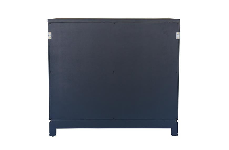 Small Carlyle Campaign Dresser - Navy | AVE HOME
