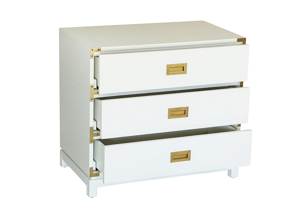 Small Carlyle Campaign Dresser - White (Early December Arrival)