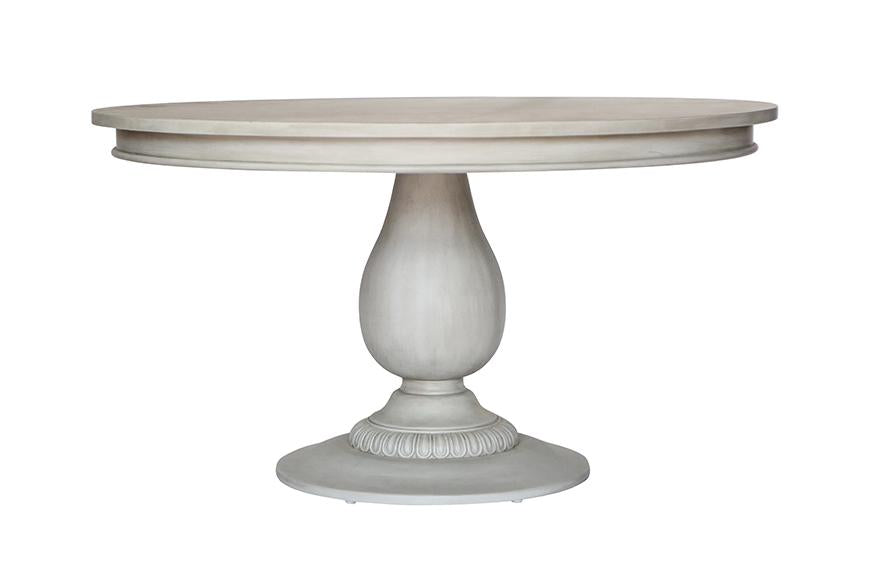 Charlotte Pedestal Table - Aged French Grey
