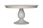 "Charlotte Pedestal Table - Aged French Grey - 60"" (Pre-order for mid May Arrival)"