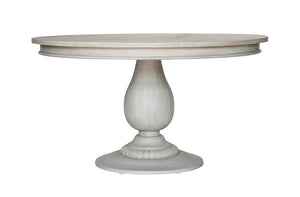 Charlotte Pedestal Table - Aged French Grey | AVE HOME
