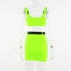 Neon Buckle-Front Camis and Skirt SET-200003494-HugGitar