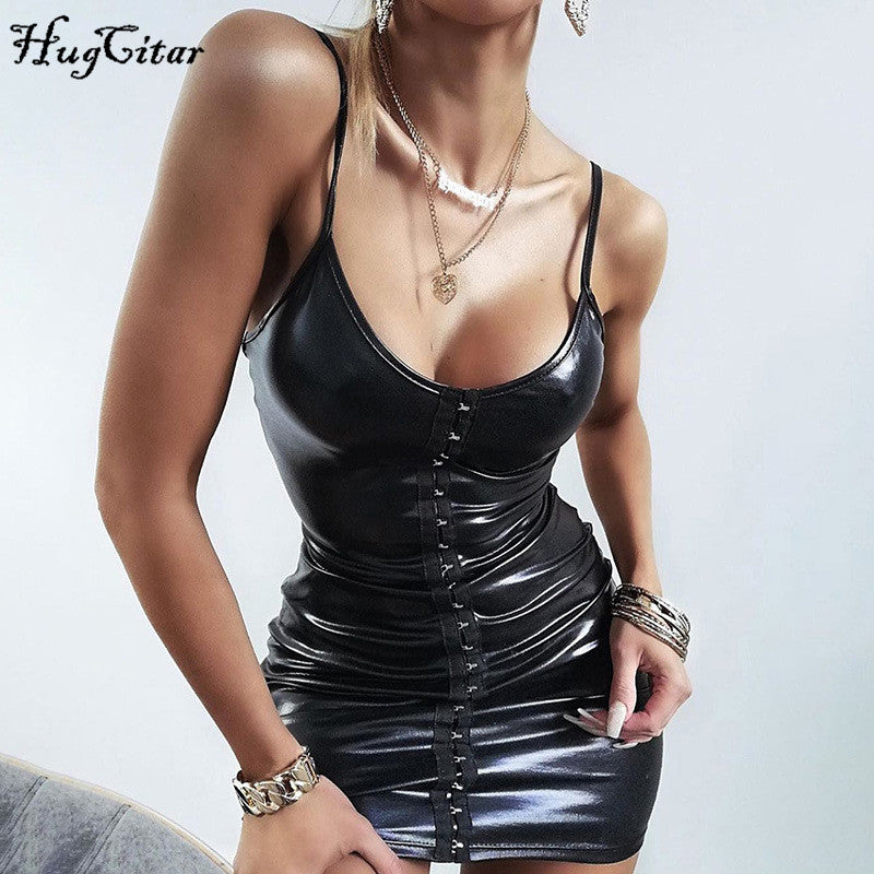 PU Leather Bodycon Outfit
