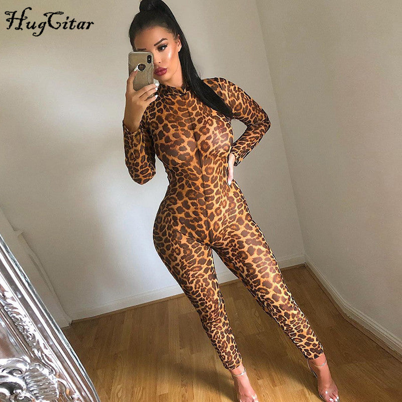 Leopard Print See-through Bodycon