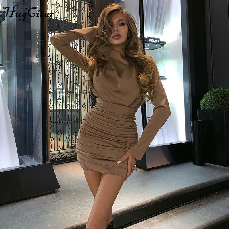 Ruched Pure Mini Dress