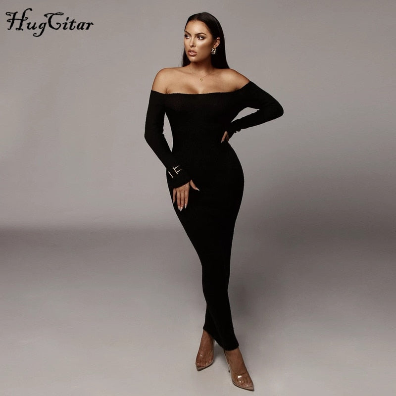 Slash Neck Slim Bodysuit