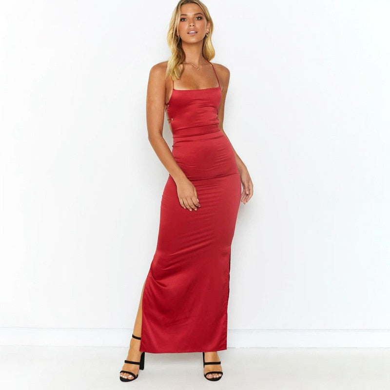 Sleeveless Backless Long Dress