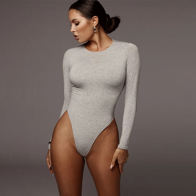 Long Sleeve O-neck Bodysuit