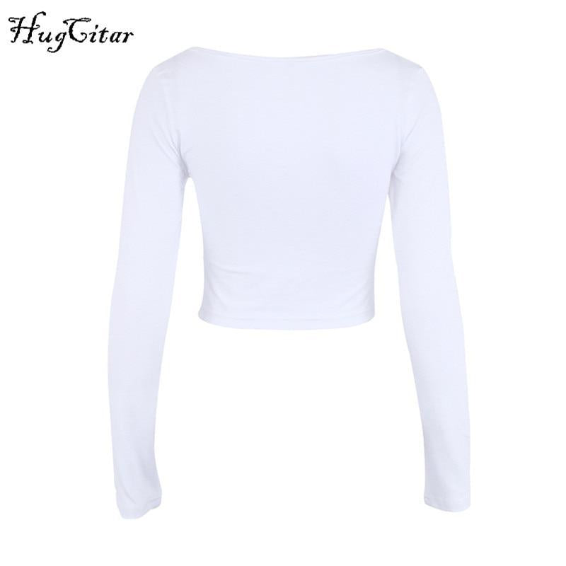 Ruched Cropped Tops-HugGitar