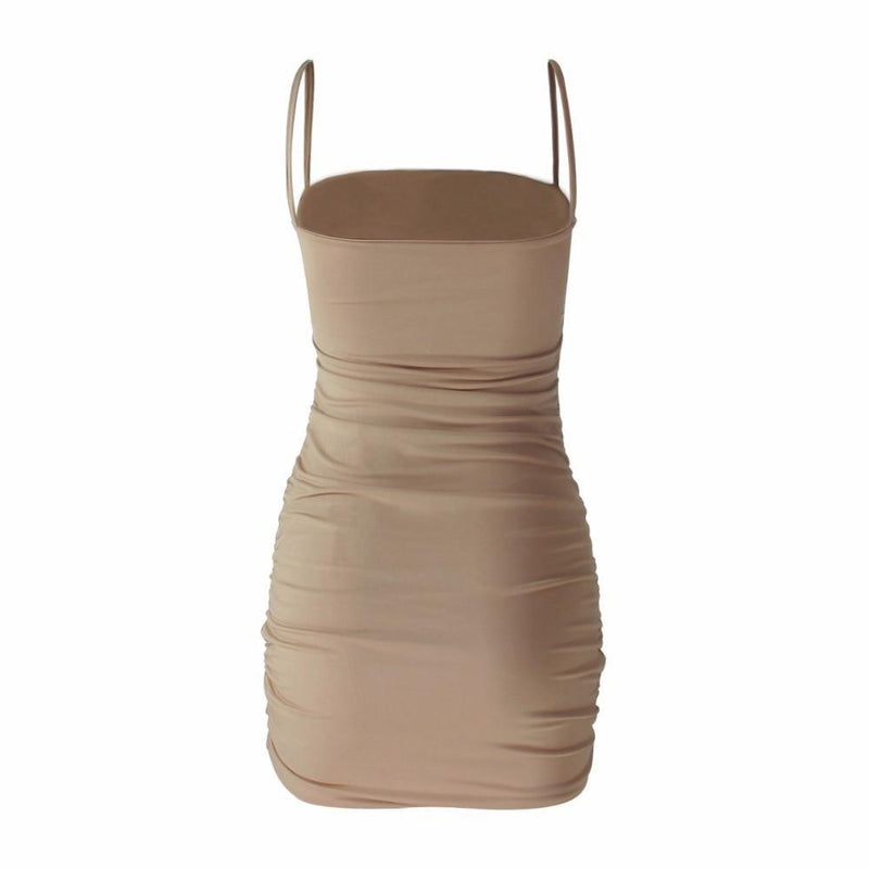 Ruched Bodycon Mini Dress-HugGitar